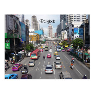 traffic bangkok postcard