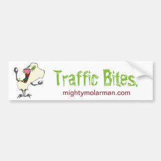 Traffic Bites Bumper Sticker Car Bumper Sticker