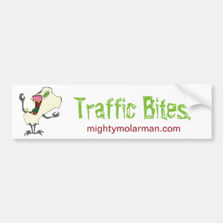 """Traffic Bites"" Zombie Tooth® Bumper Sticker"