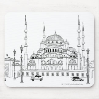 Traffic by mosque mouse mat
