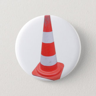 Traffic cone 6 cm round badge