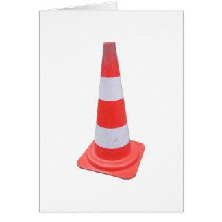 Traffic cone greeting card