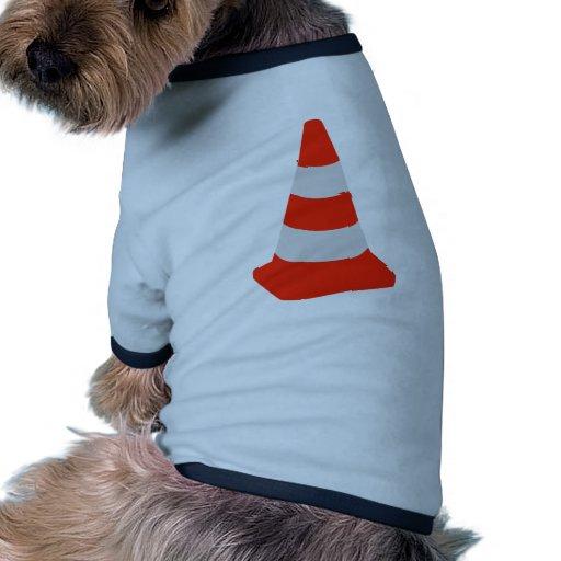 Traffic cone ringer dog shirt
