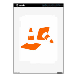 Traffic cone safety pylon  two Whitch hat marker 2 Skin For iPad 3