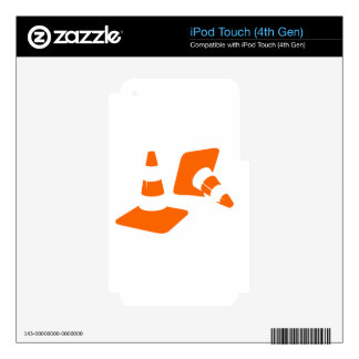 Traffic cone safety pylon  two Whitch hat marker 2 Skins For iPod Touch 4G