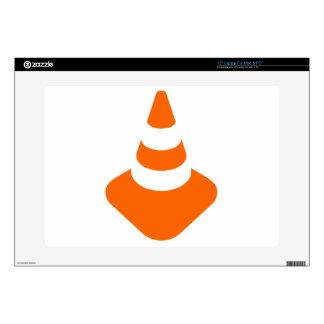 "Traffic cone safety pylon Whitch hat marker 15"" Laptop Decals"