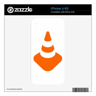 Traffic cone safety pylon Whitch hat marker iPhone 4S Skins