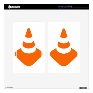 Traffic cone safety pylon Whitch hat marker Kindle Fire Skin