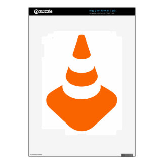 Traffic cone safety pylon Whitch hat marker Skins For iPad 2