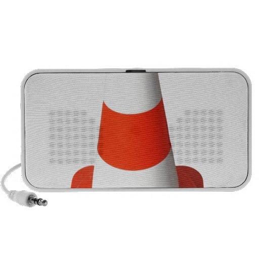 Traffic cone iPod speaker