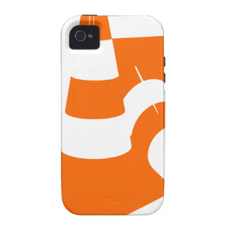 Traffic cone two safety pylons iPhone 4/4S cover