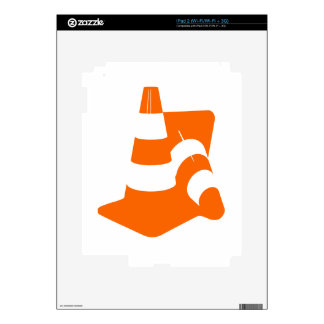 Traffic cone two safety pylons iPad 2 decal