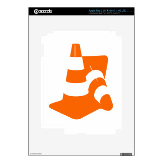 Traffic cone two safety pylons iPad 3 decals