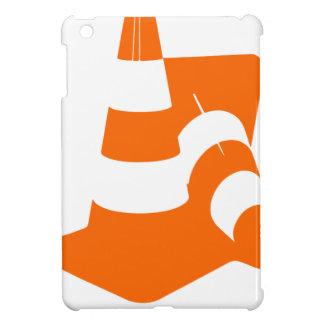 Traffic cone two safety pylons iPad mini cover