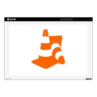 Traffic cone two safety pylons laptop decal