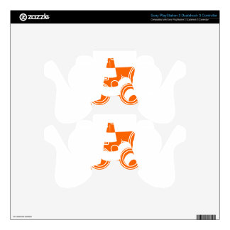 Traffic cone two safety pylons PS3 controller skin