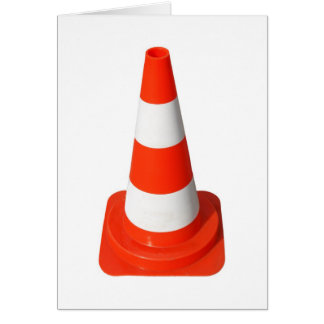 Traffic Cone Used Street Road Works Greeting Card