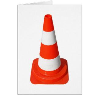 Traffic Cone Used Street Road Works Greeting Card