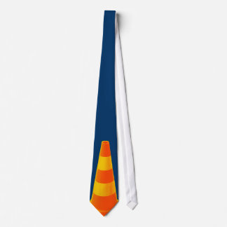Traffic Cone with Yellow Stripes Tie