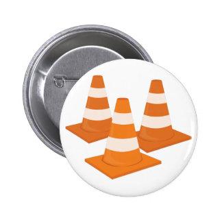 Traffic Cones 6 Cm Round Badge