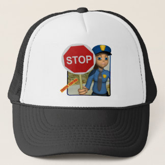 Traffic Control Officer Trucker Hat