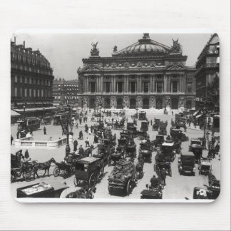 Traffic in front of the Paris Opera House Mouse Mat