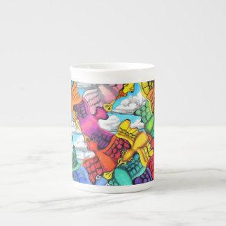 Traffic Jam Bone China Mug