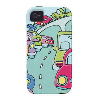 Traffic Jam People Vibe iPhone 4 Cases
