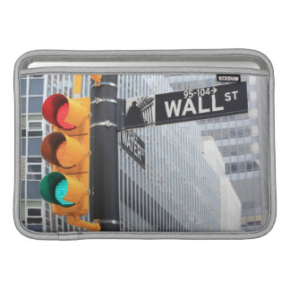 Traffic Light and Wall Street Sign MacBook Sleeves