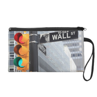 Traffic Light and Wall Street Sign Wristlet