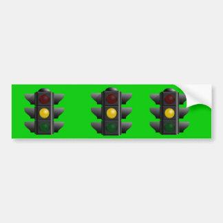Traffic Light Bumper Sticker