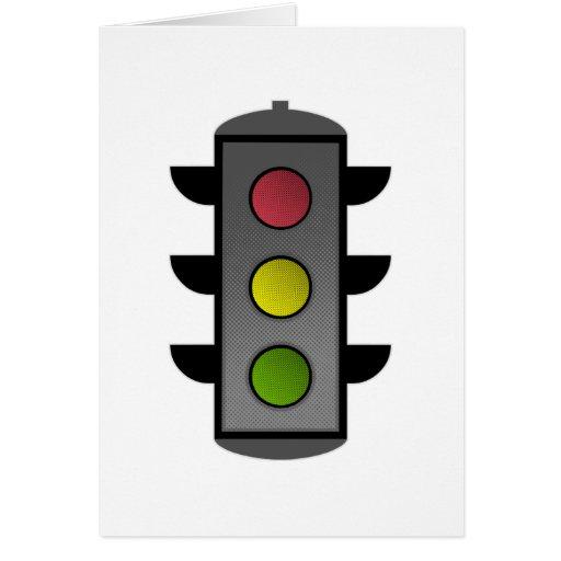 Traffic Light Greeting Cards