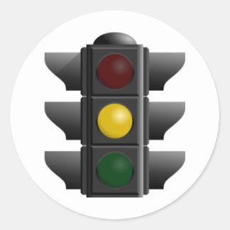 Traffic Light Classic Round Sticker