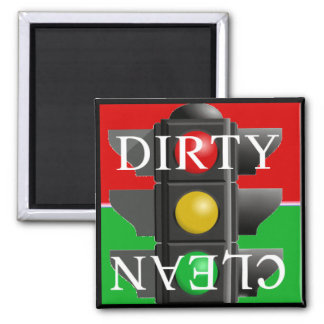 Traffic Light Clean-Dirty Magnet