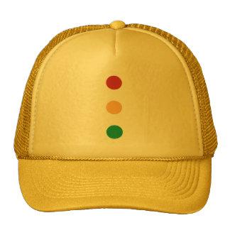 Traffic light colors circles Hats