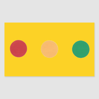 Traffic light colors circles Stickers