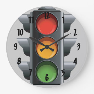 Traffic Light Design Wall Clock