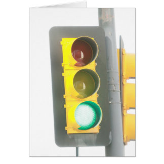 Traffic Light Greeting Card