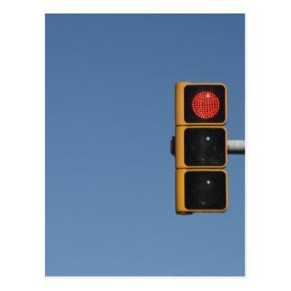 Traffic light postcard