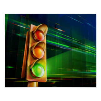 Traffic light - poster