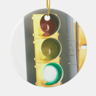 Traffic Light Round Ceramic Decoration