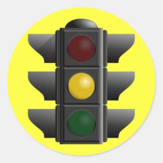 Traffic Light Round Sticker