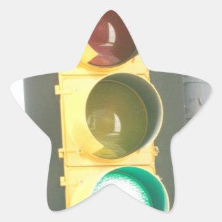 Traffic Light Star Sticker