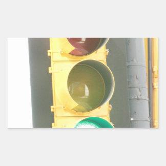 Traffic Light Rectangular Stickers