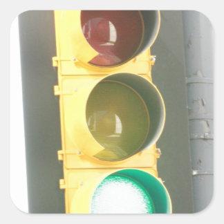Traffic Light Square Sticker
