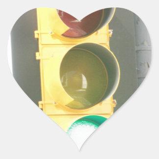 Traffic Light Heart Sticker