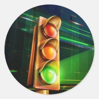 Traffic light - round sticker