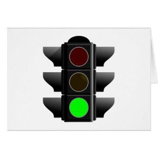 Traffic light traffic light green green card