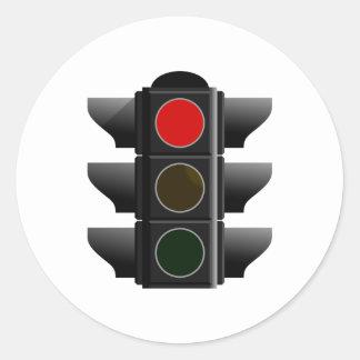 Traffic light traffic light red talk classic round sticker