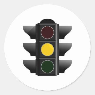 Traffic light traffic light yellow yellow round sticker